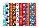 Meneng Halloween Faux Leather Sheets for Making Halloween Theme Earrings and Hair Bows,10 Colors Ghost Cobweb Print Synthetic Leather Fabric