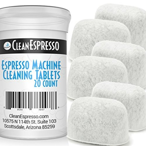 Breville Espresso Machine Cleaning Tablets and Filters (20 Tablets + 6 Filters)
