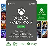 Xbox Game Pass Ultimate - 3 Monate | Xbox / Win 10 PC - Download Code| Mitgliedschaft beinhaltet Xbox Live Gold