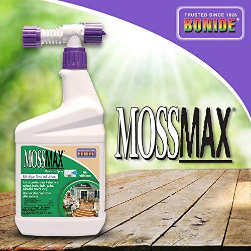Bonide (BND728) - MossMax Moss Killer, Ready to Spray, Outdoor Algae, Moss, & Lichens Control (32 oz.)