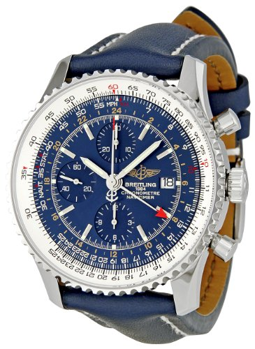 BREITLING Herren A2432212/C651Navitimer Welt Blau Zifferblatt Chronograph