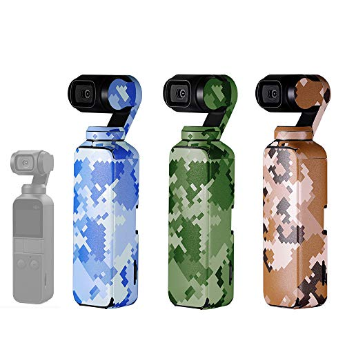 Honbobo DJI OSMO Pocket対応 3枚セットマルチカラー ステッカー テーマステッカー PVC材質 PGYTECH製品 (#2)