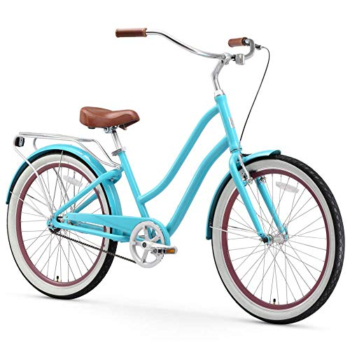 Sixthreezero EVRYjourney Bicicleta de playa de aleación híbrida para mujer (24 pulgadas, 26 pulgadas, y eBike)