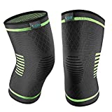 Upgraded Knee Brace 2 Pack Compression Sleeves Support for Women & Men,Wraps Pads for Running, Pain Relief, Injury Recovery, Basketball and More Sports