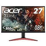 Acer ゲーミングモニター SigmaLine 27インチ KG271Ebmidpx 0.8ms(GTG) 144Hz TN FPS向き フルHD FreeSync フレームレス HDMI スピーカー内蔵 ブルーライト軽減