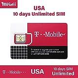 【T-mobile】アメリカ 10日間 SIMカード T-Mobile 回線利用 高速データ通信使い放題 (通話とSMS、データ通信高速) USA ハワイ