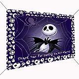 Jack Skellington Banner Large Vinyl Indoor or Outdoor Banner Sign Poster Backdrop, Party Favor Decoration, 30' x 24', 2.5' x 2', Nightmare Before Christmas, Halloween, Skeleton
