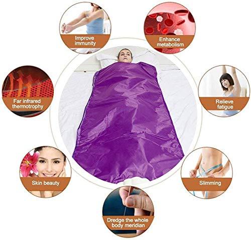 Heat Sauna Slimming Blanket, Digital Far-Infrared (FIR) Oxford Sauna Blanket Safety Switch Hands Free Design for Weight Loss Body Shape Slimming Fitness 7