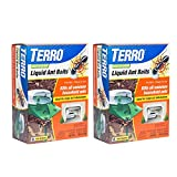 TERRO T1806SR 2-Pack Outdoor Liquid Ant Baits-12 Traps, 12 Bait Stations, Clear