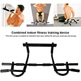 LOKE Pull Up Bar,Doorway Pullup Bar Fits Most Door Ways,Upper Body Workout Bar Portable Gym System for Home Gym Training,Muscles Exercise,Black1