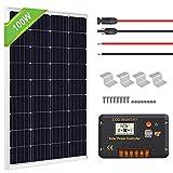 ECO-WORTHY 100 Watts Solar Panel Off Gird RV Boat Kit :100W Mono Solar Panel +20A LCD Charge Controller+Z Brackets