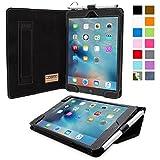 Snugg iPad Mini 5 (2019) & iPad Mini 4 Leather Case, Flip Stand Cover - Blackest Black