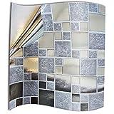 24x Gris Argent Chrome Autocollants adhésifs du film 2D pour les tuiles couvrent la couche mince pour des tuiles de salle de bains ou de cuisine