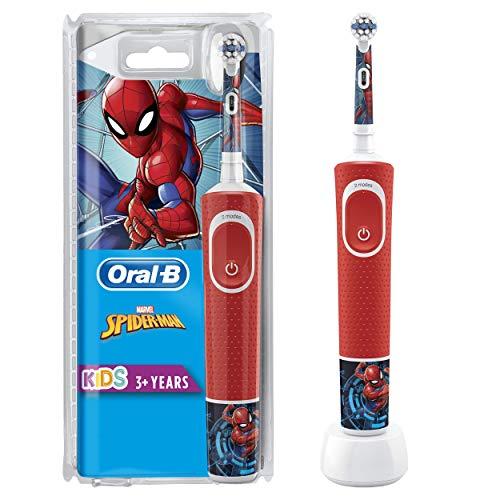 Oral-B Kids Spazzolino Elettrico Ricaricabile, 1 Manico con Personaggi Disney Spider-Man, dai 3 Anni in Su, Idea Regalo Natale