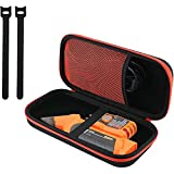 ProCase Hard Travel Case for Klein Tools ET310 AC Circuit Breaker Finder and Integrated GFCI Outlet Tester, EVA Protective Storage Carrying Case with 2 Cable Ties and Inner Mesh Pocket -Black