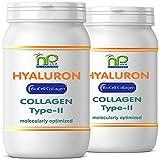 NP-Vital - Biocell Collagen oder Collagen Express Kapseln (mit Collagen-II, Hyaluronsäure, Vitamin-C und Mangan) 1000mg Collagen/Tag für Haut, Haare, Gelenke (2x60 Biocell Collagen Kapseln)