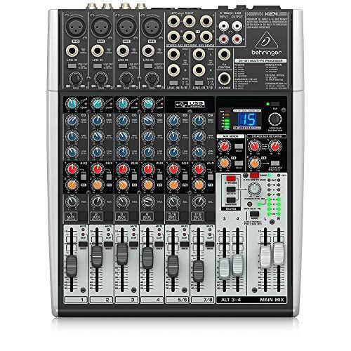 Behringer Xenyx X1204USB Premium 12-Input 2/2-Bus Mixer with USB/Audio Interface,Black