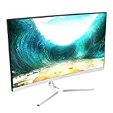 VIOTEK NB24CW 24-Inch LED Curved Monitor with Speakers, Bezel-Less Display, 75Hz 1080P Full-HD FreeSync VGA HDMI VESA - Xbox Ready (White)