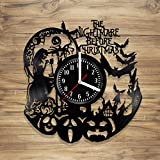 DecorArt Studio The Nightmare Before Christmas Vinyl Wall Clock Simply Meant to Be Jack Sally Handmade Art Home Unique Gift idea Him Her (12 inches)