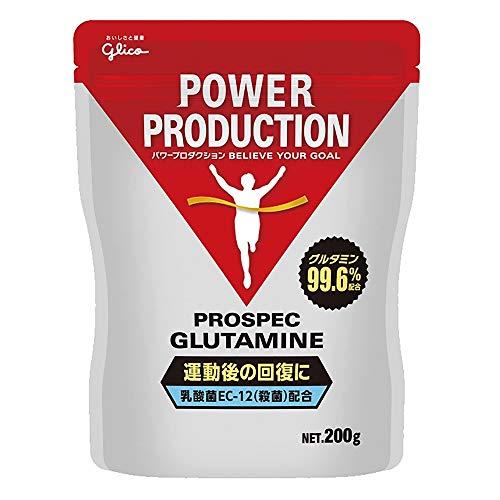 グリコ パワープロダクション アミノ酸プロスペック グルタミンパウダー アミノ酸 200g【使用目安 約40回分...