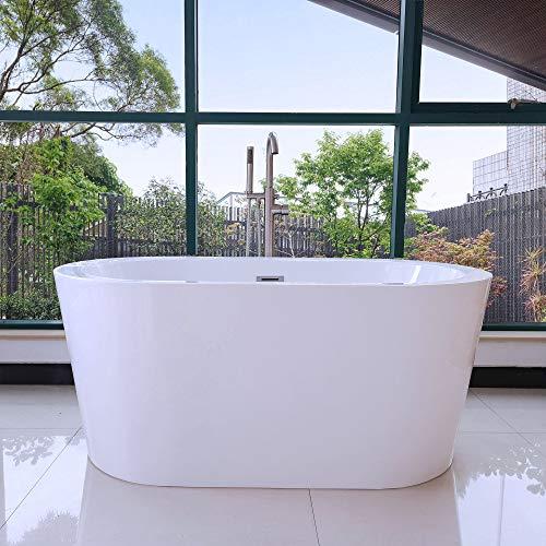 Woodbridge BTA0088 Acrylic Freestanding Contemporary Soaking Tub with...