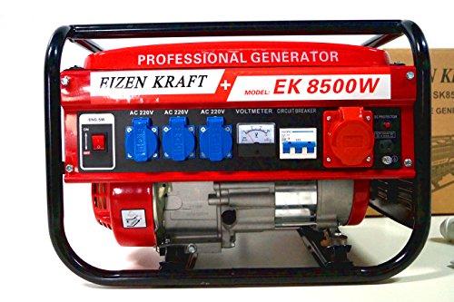 KRaftech - Stromgenerator mit 6.000W, Luftkühlung, 6,5HP, 4-Takter, 12, 220, 380V