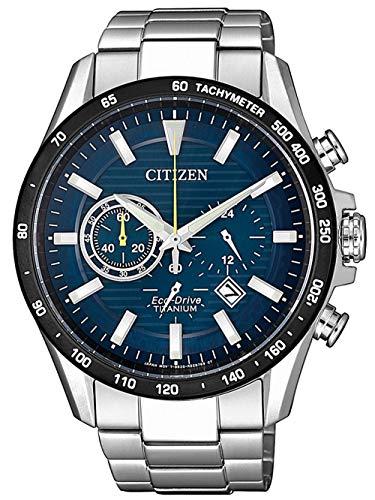 Citizen Herren Analog Quarz Uhr mit Titan Armband CA4444-82L