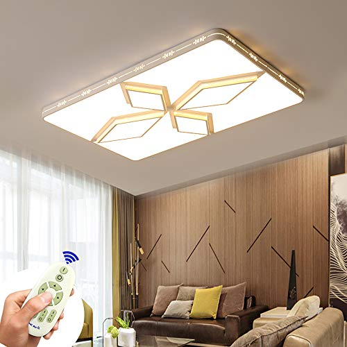 COOSNUG Deckenleuchte LED 72W Deckenlampe Dimmbar Rhombus Modern Deckenleuchten Schlafzimmer Küche Flur Wohnzimmer Dachlampe 3000-6500K