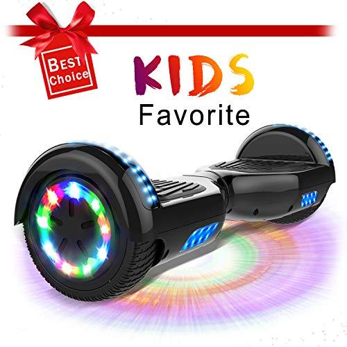 """CITYSPORTS 6.5\"""" Elektro Skateboard Board mit Bluetooth Hover Lautsprecher LED-Leuchten für Kinder und Erwachsene(Black)"""
