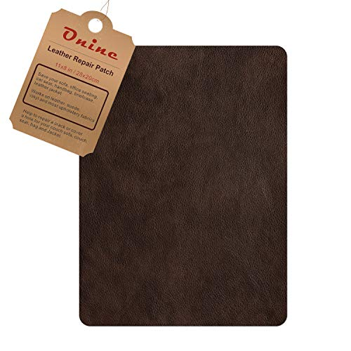 Leather Repair PatchSelf-Adhesive Couch PatchMulticolor Available Anti Scratch Leather 8X11 Inch Peel and Stick for Sofas, car Seats Hand Bags JacketsNew Dark Brown