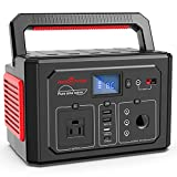 ROCKPALS 350W Portable Power Station, 288Wh Powered Generator Lithium Battery Pack Camping Generator with 110V AC Outlet, QC 3.0 USB, Type-C Port for Outdoor Camping, Home Emergency Power Supply