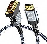 Snowkids Câble HDMI vers DVI Bidirectionnel, Câble DVI HDMI1.8m Haute Vitesse,...