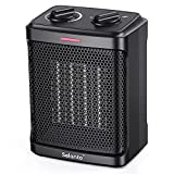 Portable Electric Space Heater for indoor use,1500W Ceramic Portable Heater with 4 Modes, Safety & Fast - Quiet Heat, Small Mini Electric Heater for Indoor Office Room Desktop Home Use