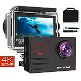 Apexcam Caméra Sport 4K Ultra HD 20MP WiFi 170 °Grand-Angle EIS Caméra...