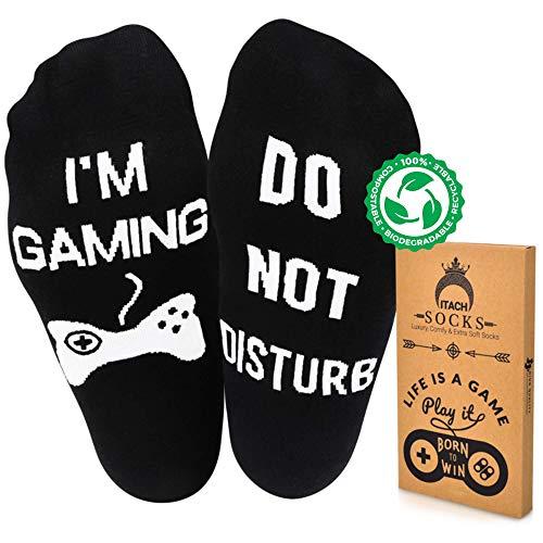ITACH Do Not Disturb Im Gaming Socks + Gift Box - Gamer...