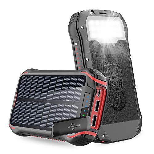 Batterie Externe Solaire, 26800mAh Chargeur Solaire Panneau Solaire...