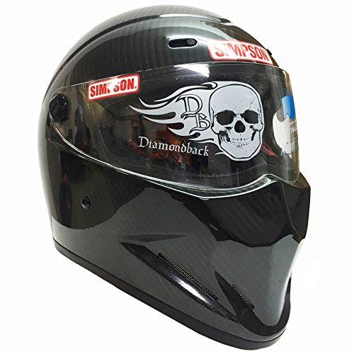 シンプソン(SIMPSON)バイクヘルメットDIAMONDBACKダイアモンドバック カーボーン 61cm 3301416100 フルフェイス