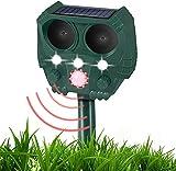 Garden Cat Repellent, Solar Powered & USB Powered for Cat Dog Birds Foxes Animal (Waterproof)