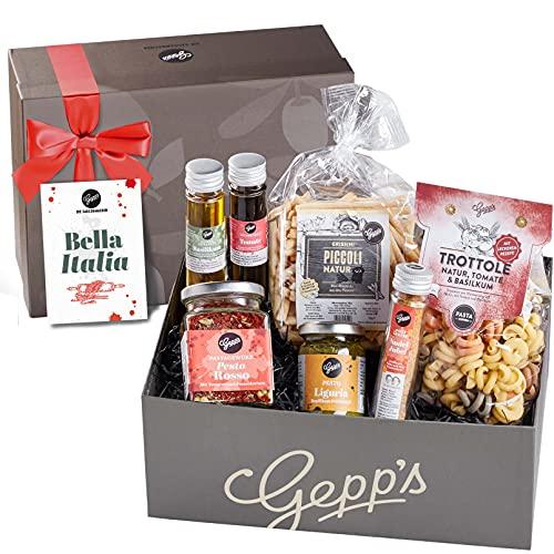 Gepp's Feinkost Bella Italia Geschenkbox I Feinste italienische Delikatessen, hergestellt nach eigener Rezeptur   Gourmet-Geschenk zum Geburtstag, zur Hochzeit I Geschenkkorb für Männer und Frauen