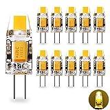 Ampoule LED G4 12V AC/DC Yuiip G4 1.2W Équivalent 10W G4 Lampe Halogène,...