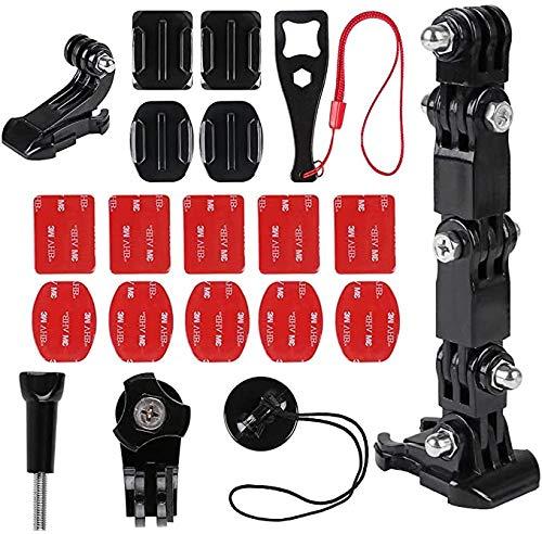 Kit per casco da moto per GoPro Held 8/7/5 e la maggior parte delle action camera, moto, casco e mento, montaggio fisso di piccole formiche, accessori per fotocamera sportiva 4 K