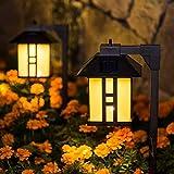 GIGALUMI Solar Powered Path Lights, Solar Garden Lights Outdoor, Landscape Lighting for...