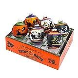 Shiny Brite Halloween Signature Flocked Ombre Ornaments - Set of Six