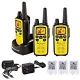 Midland 36 Channel FRS Two-Way Radio - Long Range Walkie Talkie, 121 Privacy Codes, NOAA Weather Scan + Alert (Yellow/Black, 3-Pack)