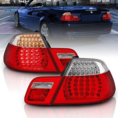 AmeriLite Convertible L.E.D Taillights Set Red/Clear 4 Pcs for BMW 3 Series E46 - Passenger and Driver Side