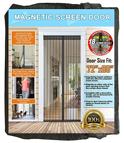 NGreen Reinforced Magnetic Screen Door -...