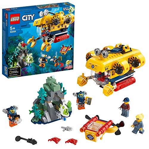 LEGO 60264 City Meeresforschungs-U-Boot Tiefsee-Unterwasserset, Tauch-Abenteuerspielzeug für Kinder