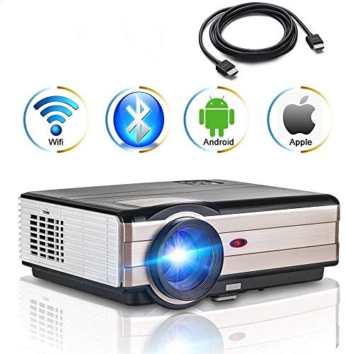 Videoproiettore Android Android 4000 lumen con Wifi Bluetooth, Multimedia LCD Proiettore Home Movie...