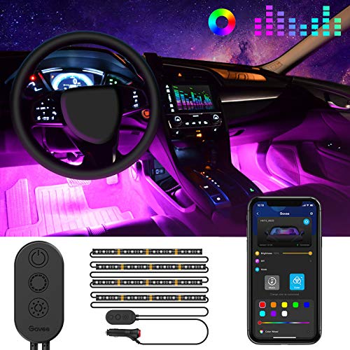 Auto LED Innenbeleuchtung, Govee RGB Auto Innenraumbeleuchtung mit APP,...