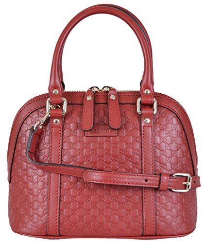 """51Eihi S4tL Red Calf Leather Micro GG Guccissima Pattern """"Gucci"""" Engraved Golden Hardware"""